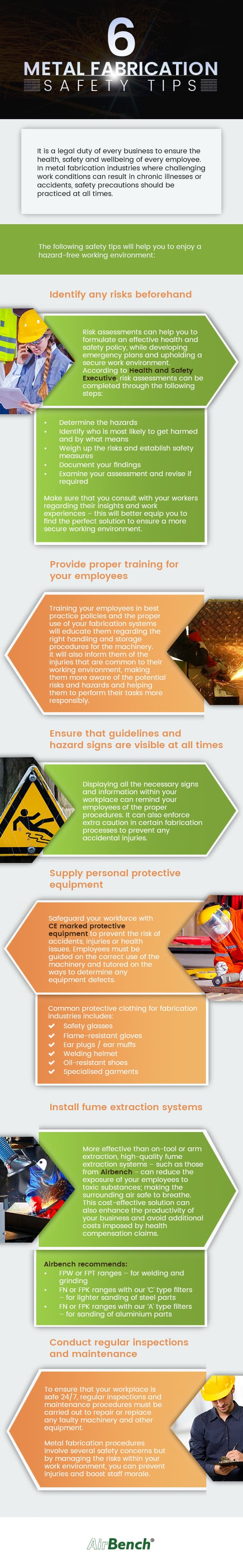 metal fabrication safety tips